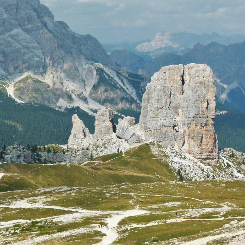 Dolomites - Cinque torri, site visité sur ce beau parcours de trekking dans les Alpes