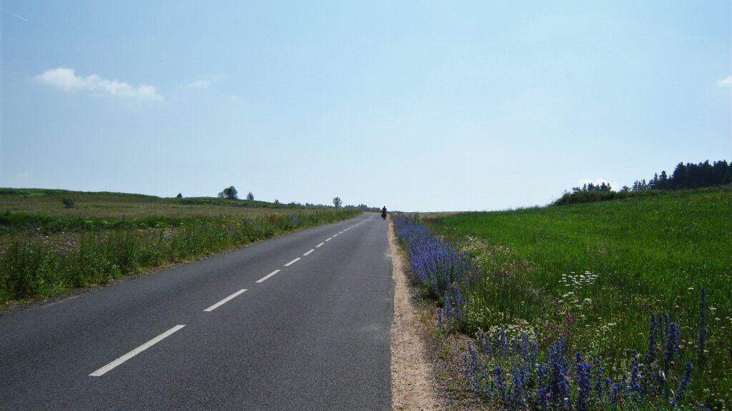 route et nature à vélo