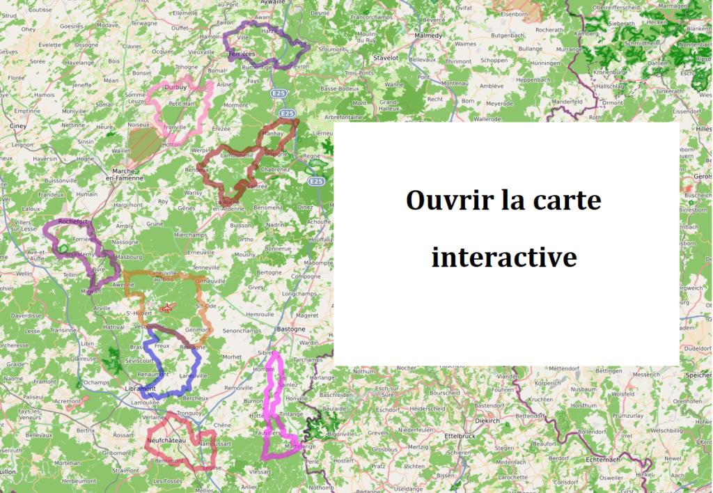 Au cœur de l'Ardenne à vélo - carte interactive