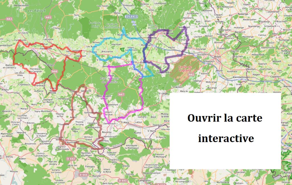 La Gaume à vélo - carte interactive