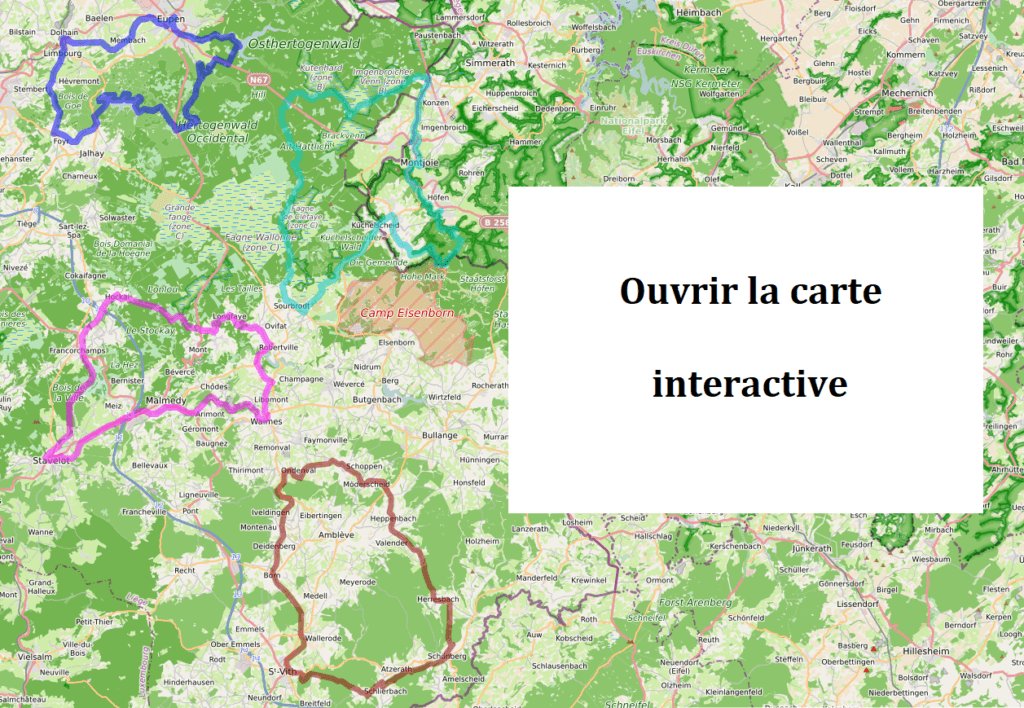 Les Hautes Fagnes ardennaises à vélo - carte interactive