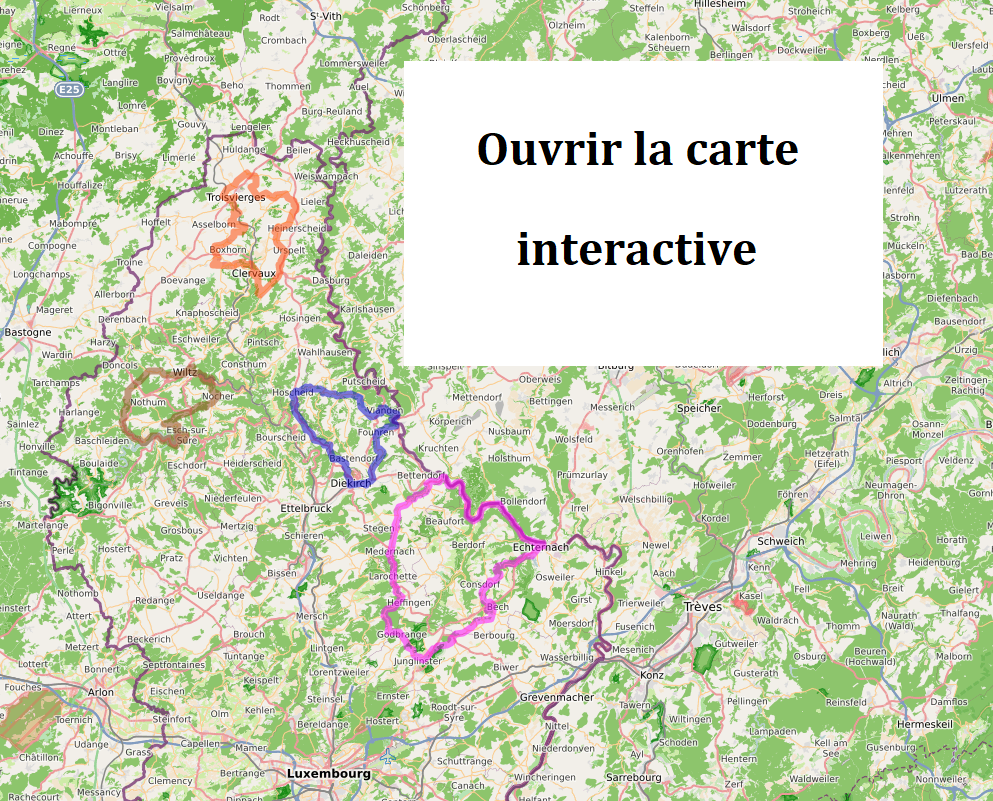 Luxembourg Nord à vélo - carte interactive