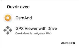 Ouvrir un fichier avec des points d'intérêt dans OSMAnd