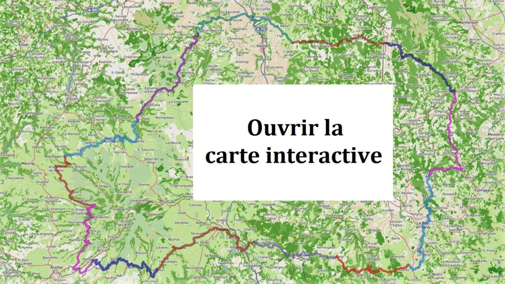 Tour de l'Auvergne à vélo en 13 étapes - carte interactive