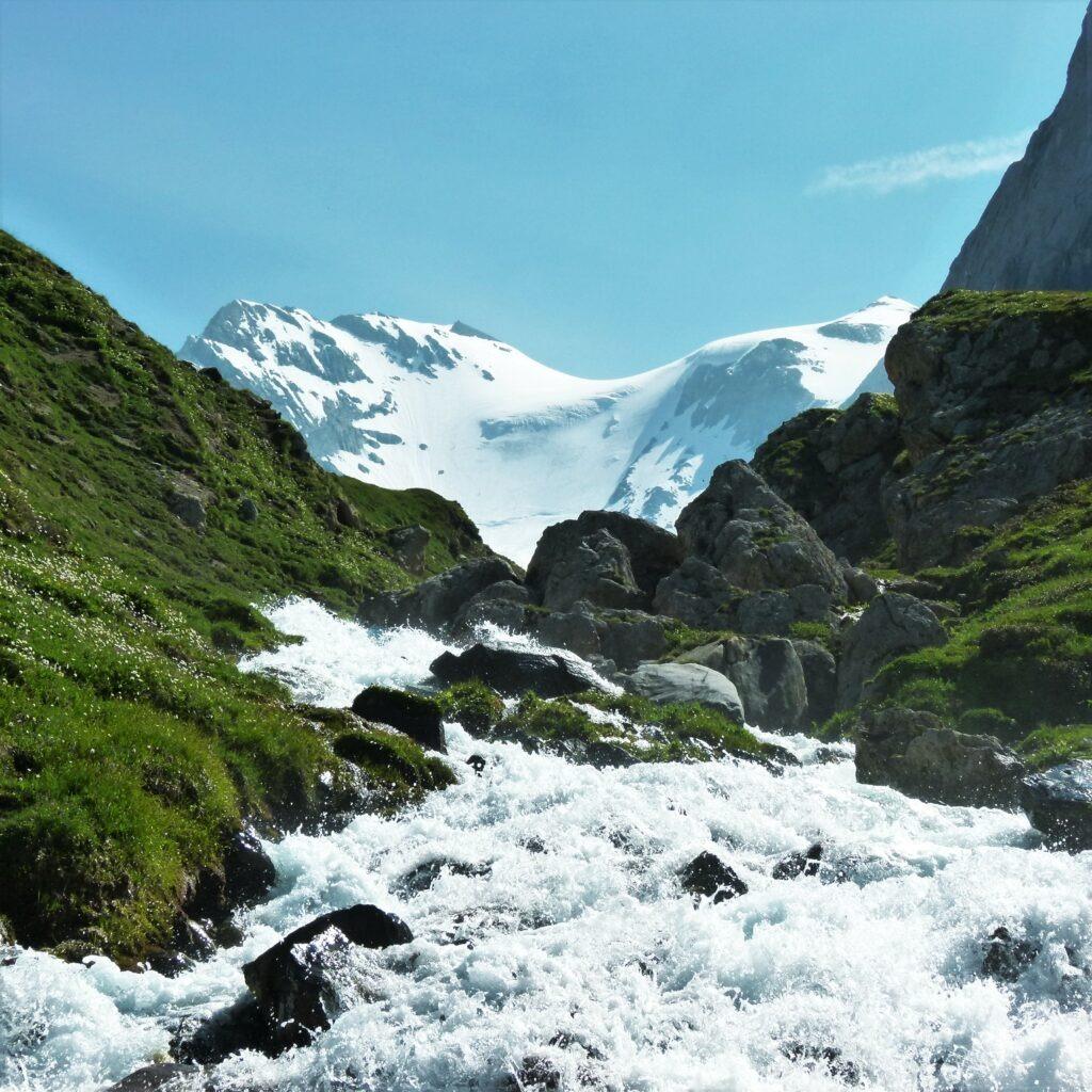 Tour des glaciers de la Vanoise - vue sur le glacier de la Grande Casse