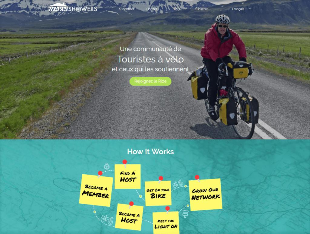 Préparer votre trekking - phase d'exploration - Warmshowers